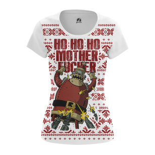 Женские Женские футболки Ho ho ho. Доставка по всей России