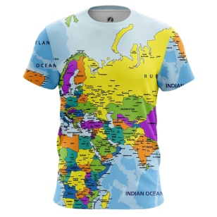 Футболка Карта мира - купить в teestore. Доставка по РФ