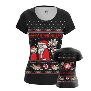 Женская Футболка Happy human holiday - купить в teestore