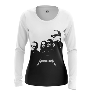 Женский Лонгслив Metallica in black - купить в teestore