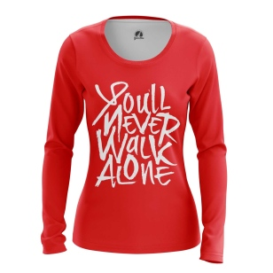 Женский Лонгслив Liverpool - You'll Never Walk Alone - купить в teestore