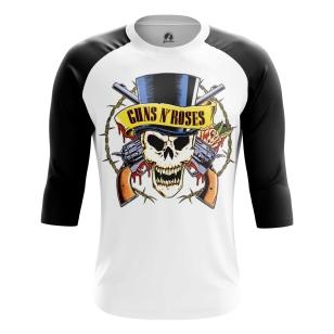 Мужской Реглан 3/4 Guns N' Roses logo - купить в teestore