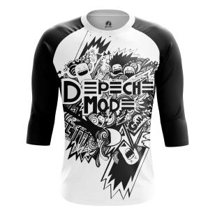 Мужской Реглан 3/4 Depeche Mode ЧБ - купить в teestore