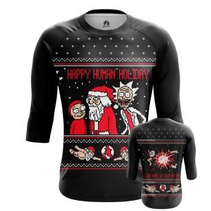 Мужской Реглан 3/4 Happy human holiday - купить в teestore