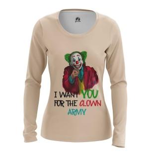 Женский Лонгслив Join clown army - купить в teestore
