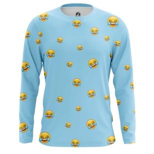 Мужской Лонгслив Laugh emoji - купить в teestore