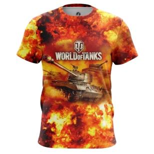 Мужские Футболки World of Tanks in Fire. Доставка по всей России