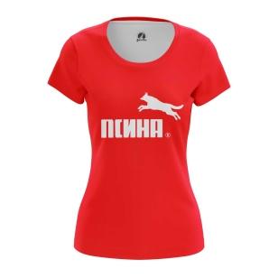 Женская Футболка Псина - купить в teestore