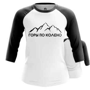Женский Реглан 3/4 Горы по колено - купить в teestore
