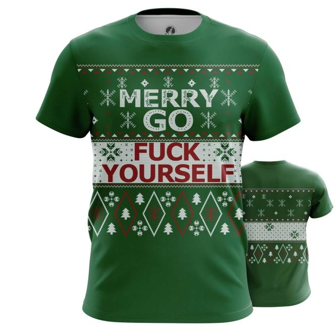 Футболка Merry yourself - купить в teestore. Доставка по РФ