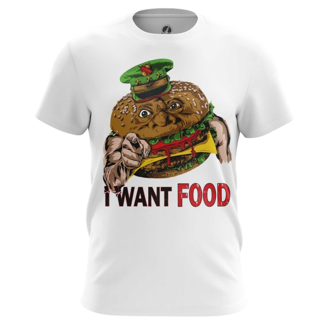 Футболка I want food купить