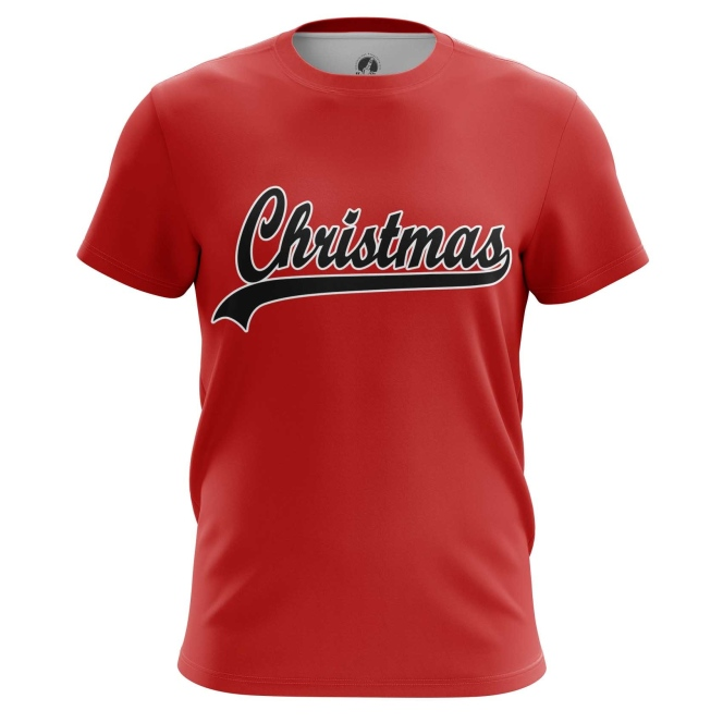 Мужские Футболки Christmas Logo. Доставка по всей России