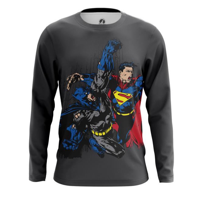 Мужской Лонгслив Бэтмен против Супермена - купить в teestore