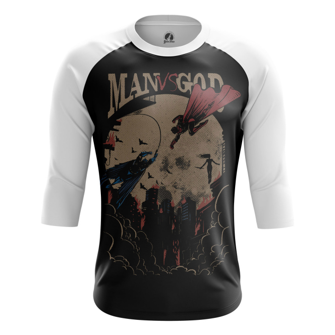 Мужской Реглан 3/4 Man vs God - купить в teestore