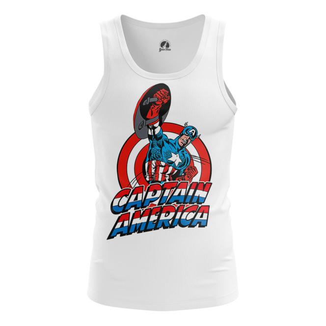 Мужская Майка Капитан Америка Первый - купить в teestore
