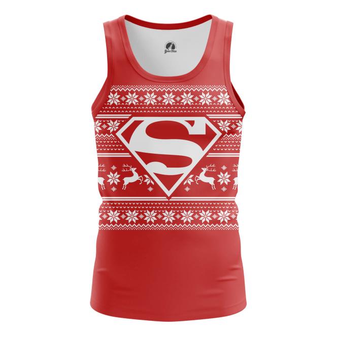 Мужская Майка Супермен Новогодний - купить в teestore