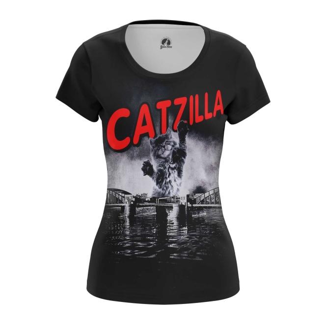 Женская футболка Кошка  купить