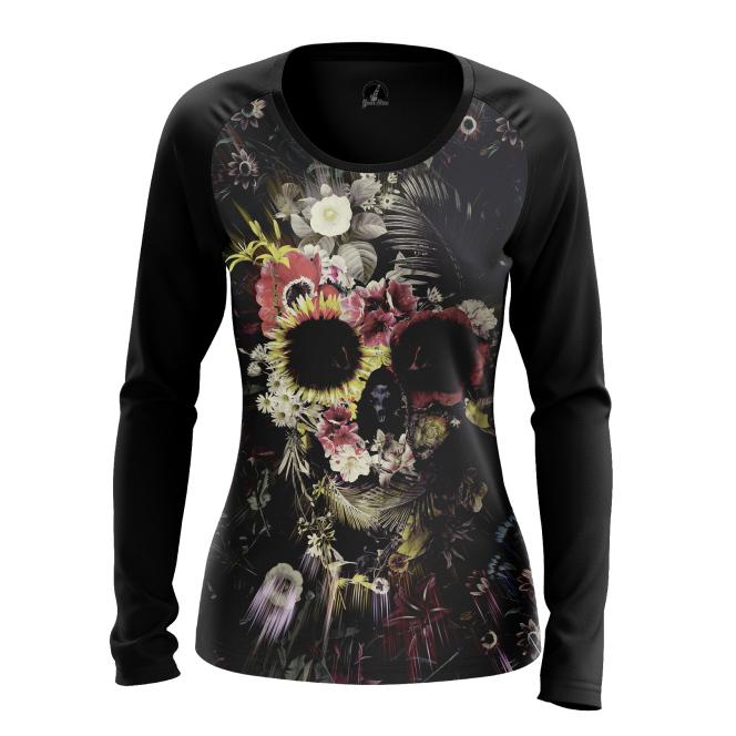 Женский Лонгслив Floral skull - купить в teestore
