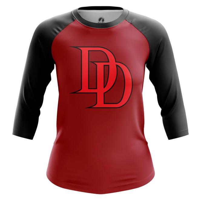 Женский Реглан 3/4 Daredevil logo  - купить в teestore
