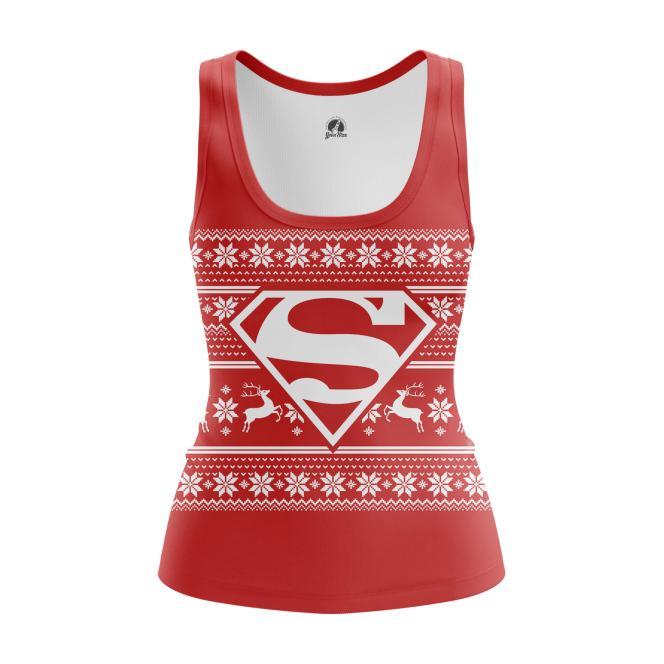 Женская Майка Супермен Новогодний - купить в teestore