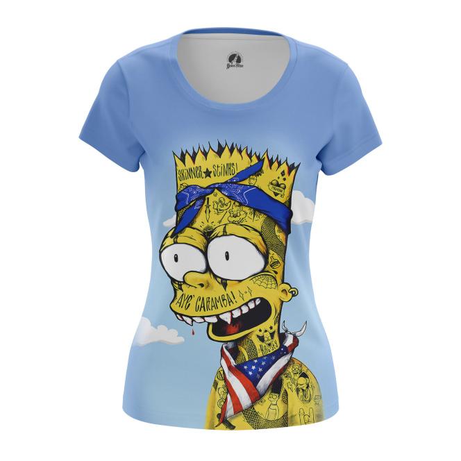 Женская Футболка Барт Симпсон - купить в teestore
