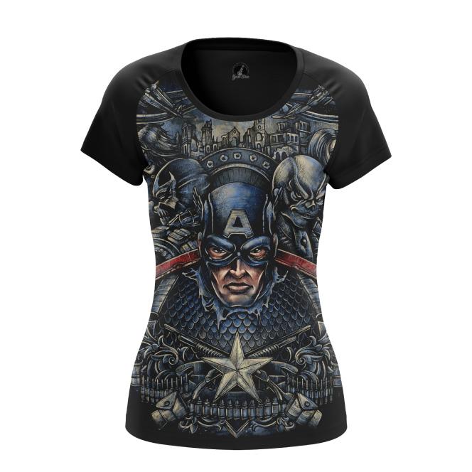 Женская футболка Капитан Америка  купить