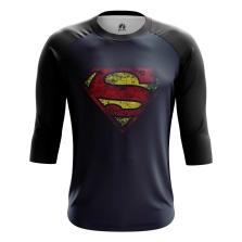 Мужской Реглан 3/4 Супермен логотип - купить в teestore