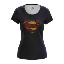 Женская Футболка Супермен логотип - купить в teestore