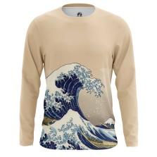 Мужские Лонгсливы The Great Wave of Kanagawa. Доставка по всей России