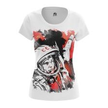 Женская Футболка Гагарин - купить в teestore