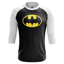 Мужской Реглан 3/4 Бэтмен лого - купить в teestore