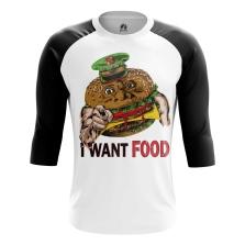 Реглан 3/4 I want food