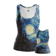 Женская Майка Ван Гог Звездная ночь - купить в teestore