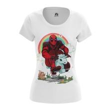 Женская Футболка Дэдпул радуга - купить в teestore