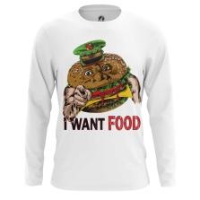Лонгслив I want food