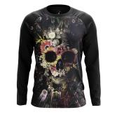 Мужской Реглан 3/4 Floral skull - купить в teestore