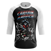 Мужской Реглан 3/4 Капитан Америка Гражданская война - купить в teestore