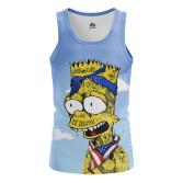 Мужская Майка Барт Симпсон - купить в teestore