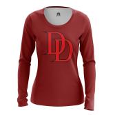 Женский Лонгслив Daredevil logo  - купить в teestore