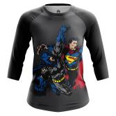 Женский Реглан 3/4 Бэтмен против Супермена - купить в teestore