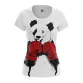 Женская Футболка Медведь боксер - купить в teestore