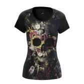 Женская Футболка Floral skull - купить в teestore
