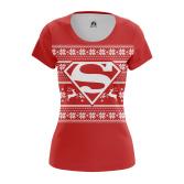 Женская Футболка Супермен Новогодний - купить в teestore